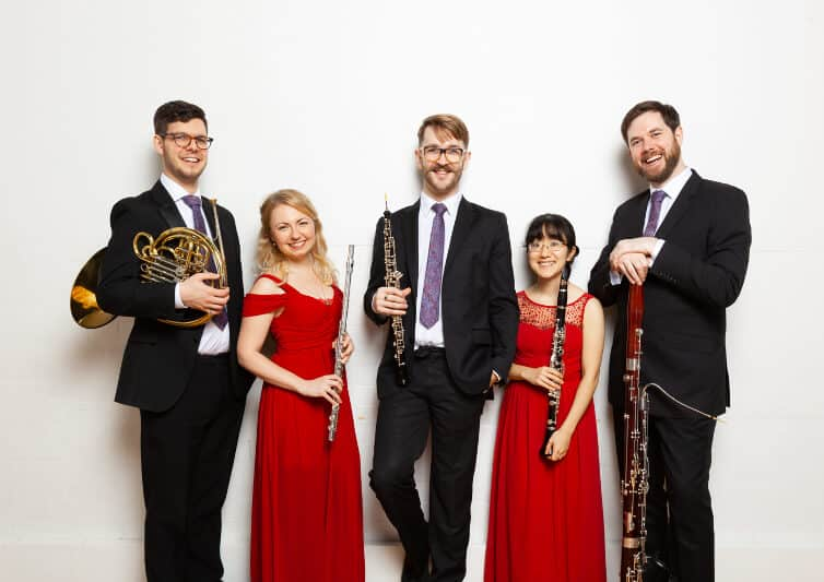 Picture of the five members of the Atea Quintet
