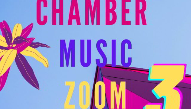 Poster for the Atea Quintet's chamber music zoom 3 on 20th March 2021